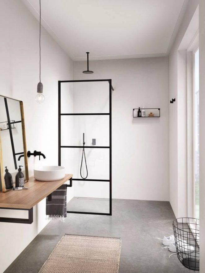 Modern bathroom with a walk-in shower