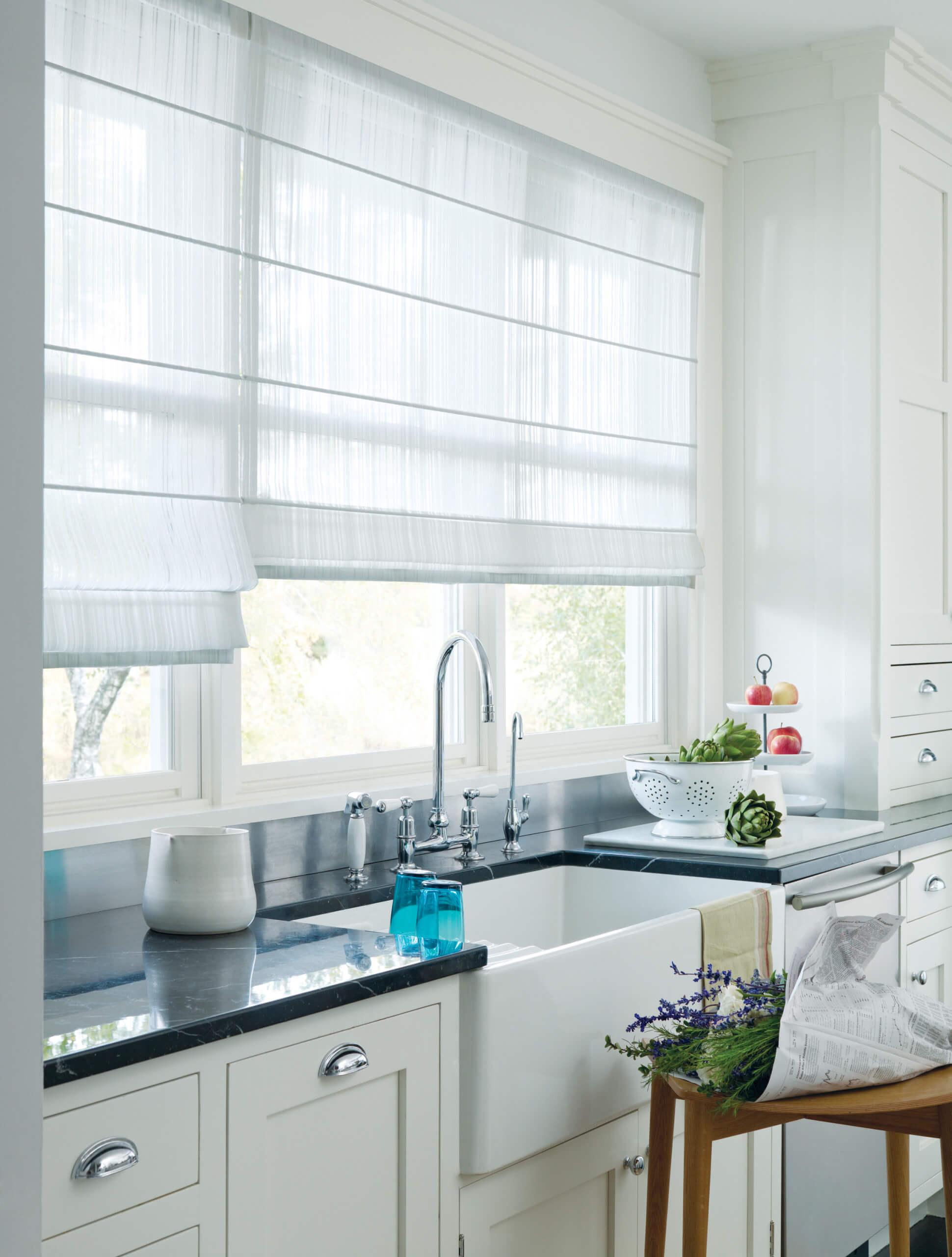 2. Linen Roman blinds
