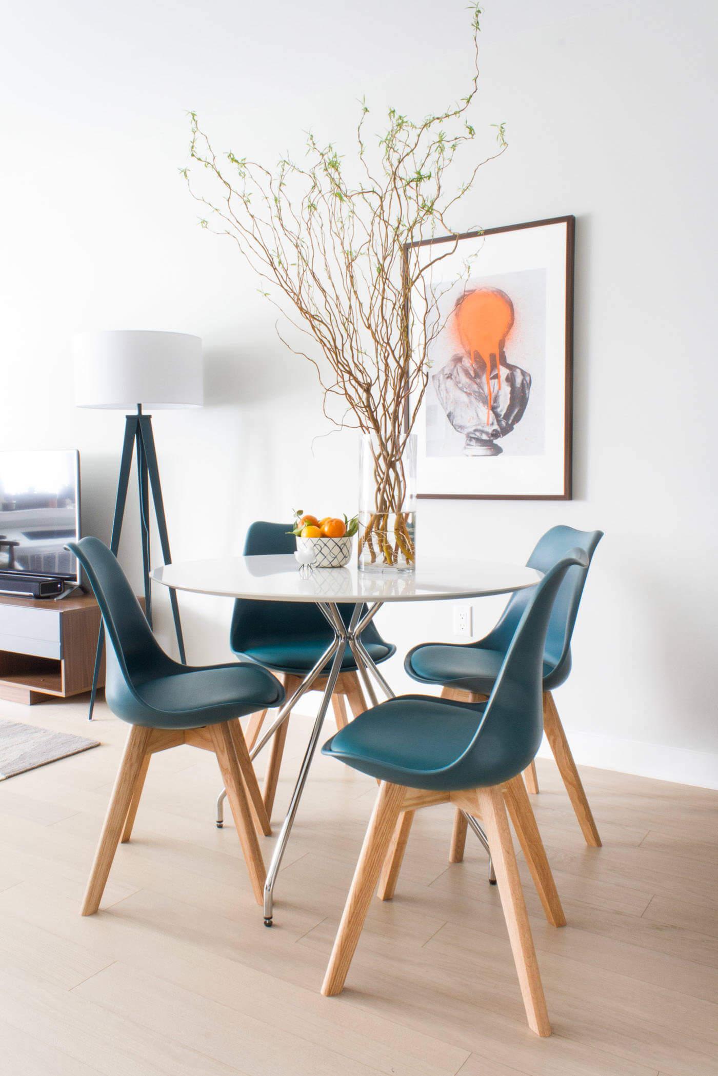 2. Thin-legged table