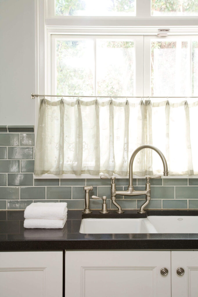 3. Cafe curtains in the kitchen