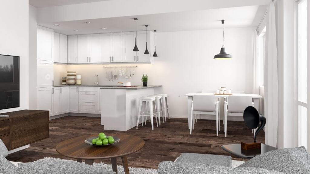 5. White kitchen is always in fashion