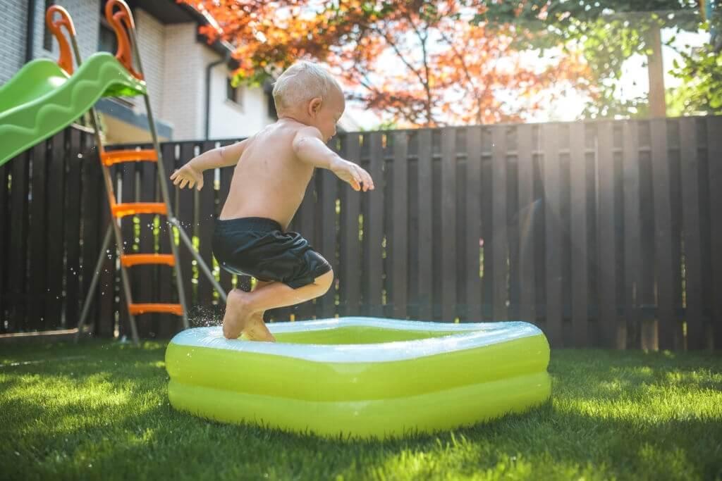 7. Portable sauna and inflatable pool