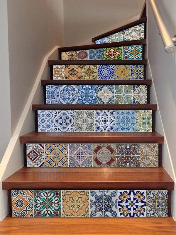 8. With tiles and mosaics