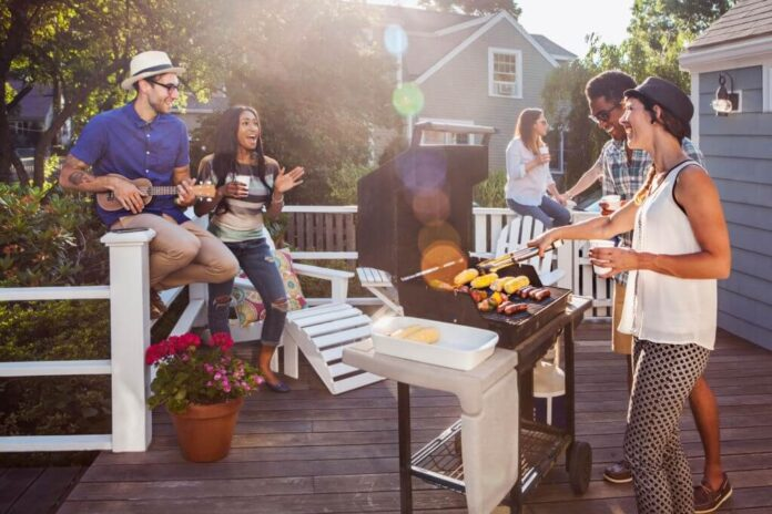 Barbecue on Terrace