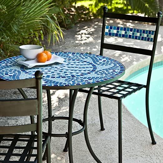 Furniture with ceramics