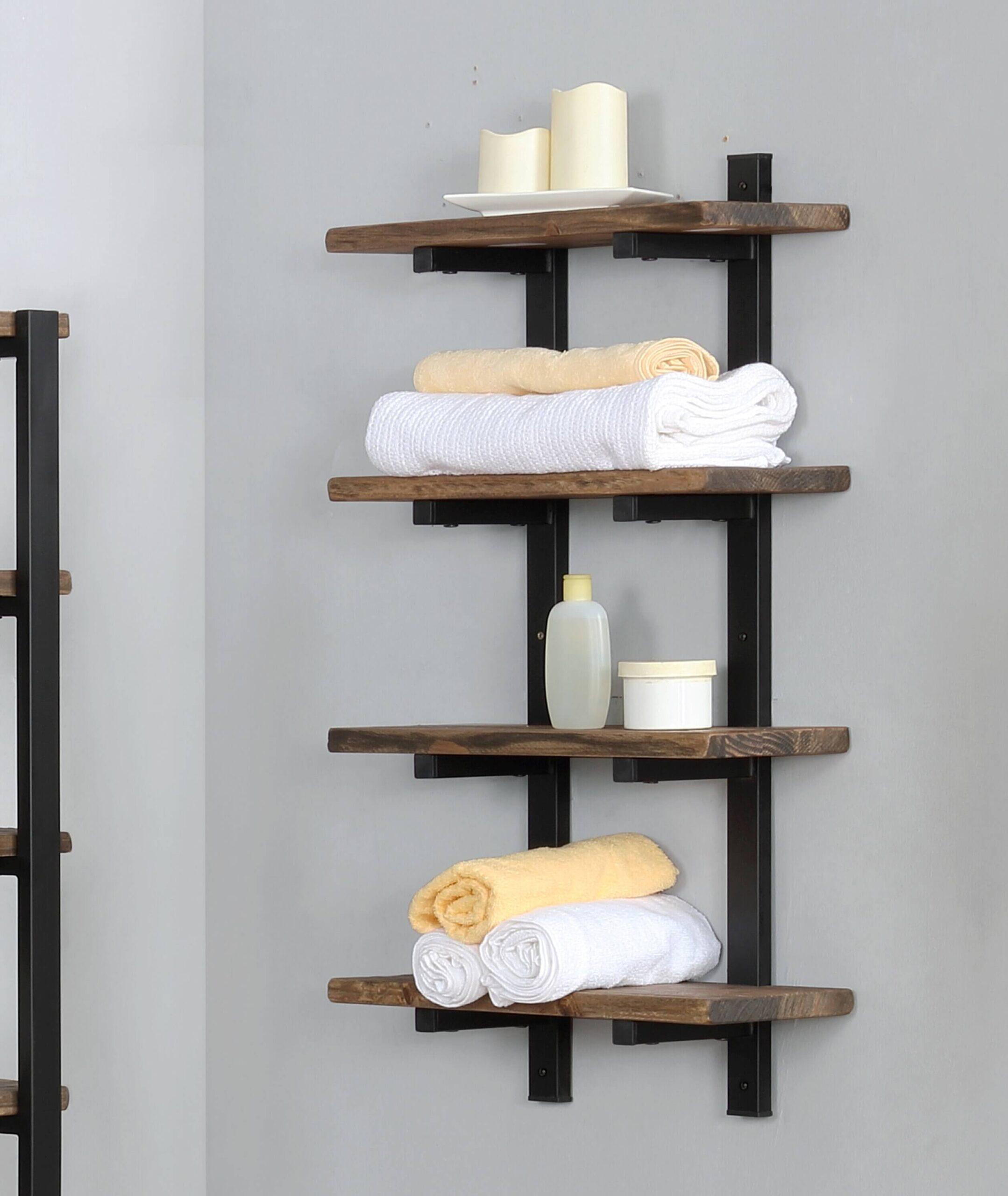 Install unusual shelves