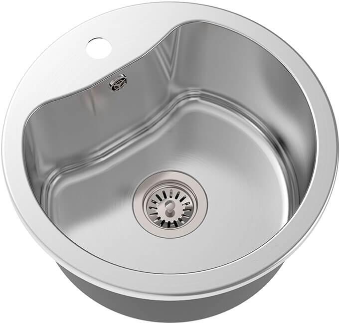 1. Built-in kitchen sink 43.5 cm Qulin OL-357 satin