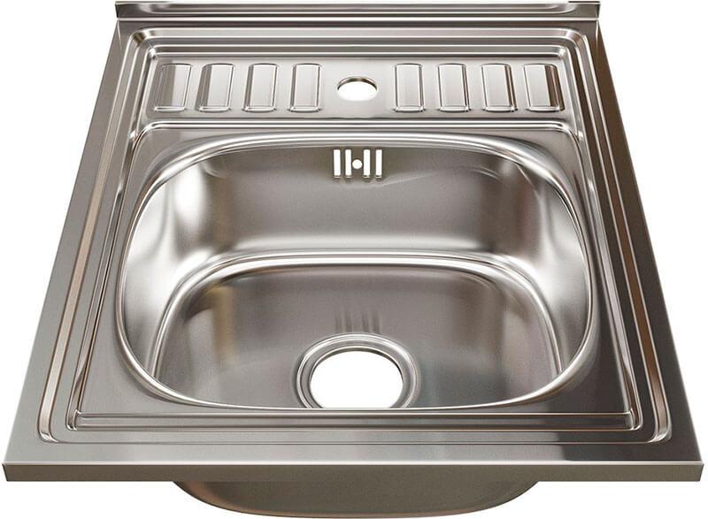 10. Overhead kitchen sink 50 cm Mixline 60x50 (0.8) 3 ½ gloss