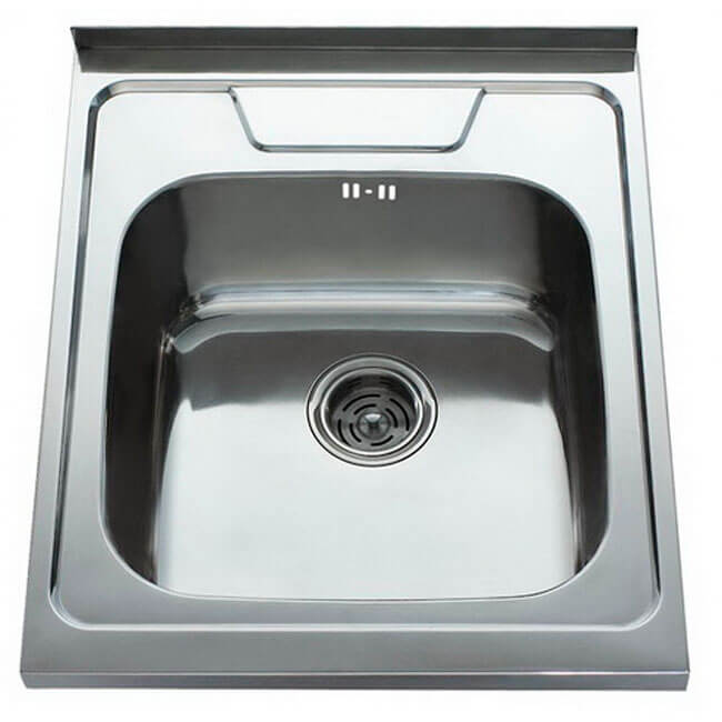 12. Overhead kitchen sink Kaiser 600x500 0.8 mm chrome