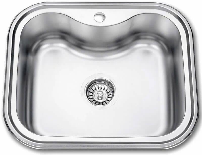 4. Inset kitchen sink 58 cm Seaman Eco Wien SWT-5848 silver