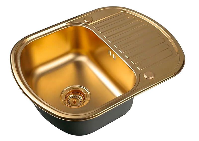 5. 62 cm inset sink Zorg Sanitary PVD SZR-6249 BRONZE