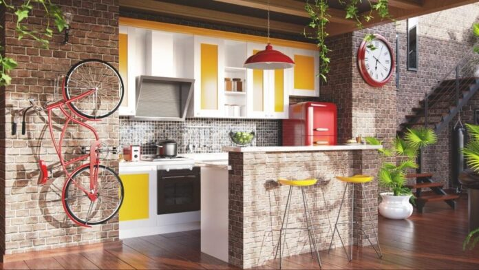 A Kitchen In The Loft Style