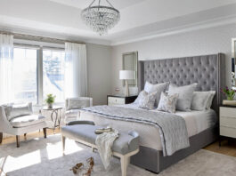 A glamor-style bedroom