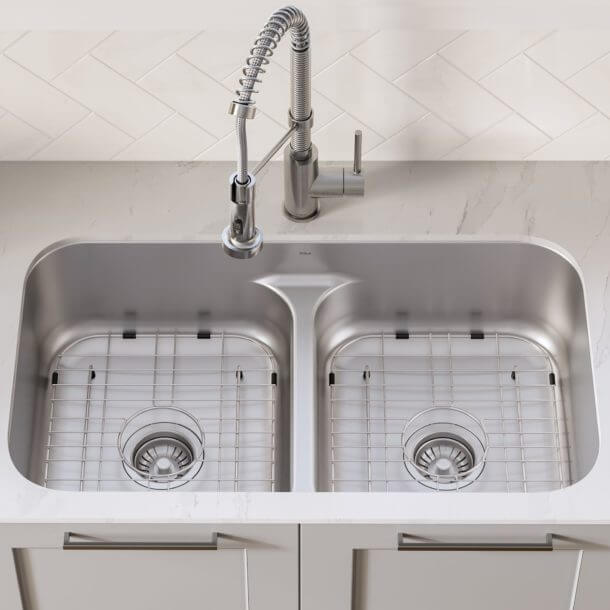 9 Tips For Selecting And Installing A Double Sink In The Kitchen