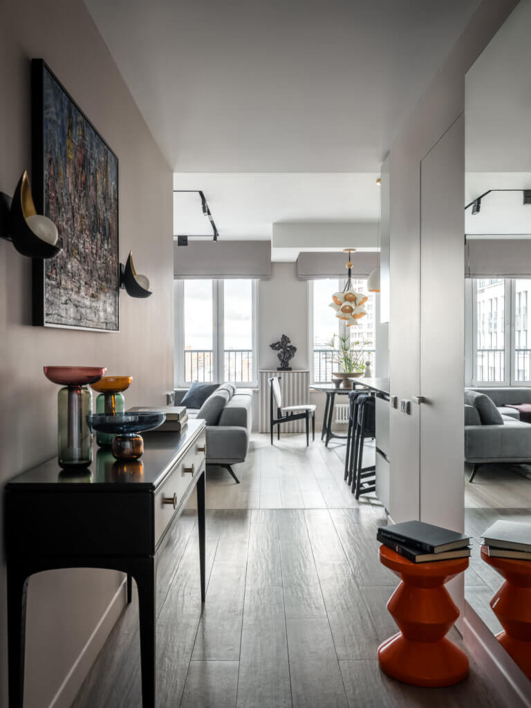 Colourful Life With A Grayscale Interior