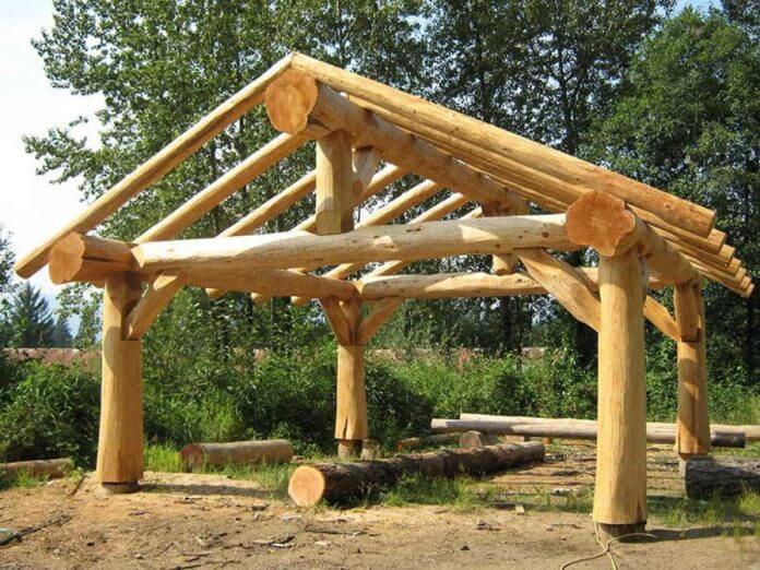 DIY- Log Canopy