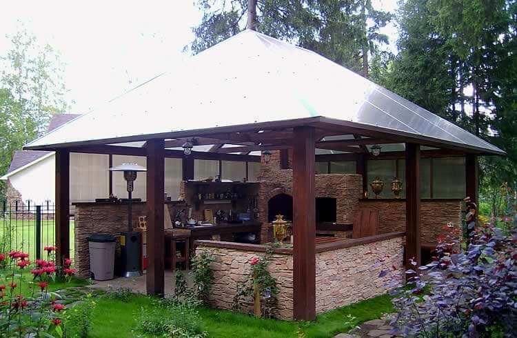 How To Build A Gazebo With A Barbecue Or Other Type Of Stove