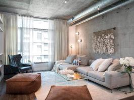 Loft-style curtains